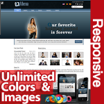 Athena Dark Blue - Unlimited Colors, Images, Layouts - 5 Free Responsive Modules - Responsive Skin